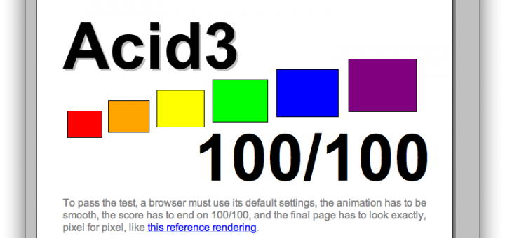 WebKit atteint 100% au test Acid3 !