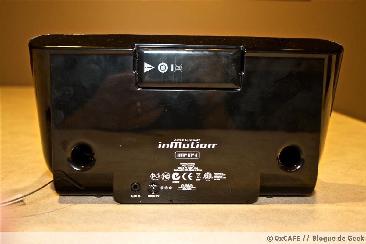 altec lansing inmotion im414 122 - [Évaluation] Haut-parleurs Altec Lansing inMotion iM414