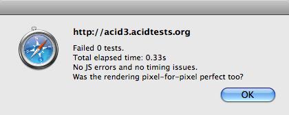 WebKit sur l'Acid3 (nouveaux résultats)