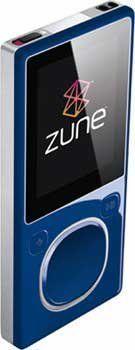 zune 8go bleu2 - Zune 3G :: Nouvelles fonctionnalités confirmées!