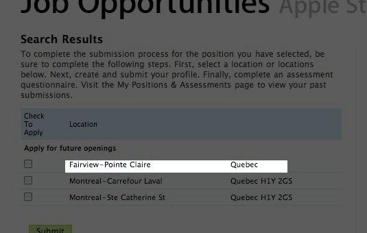 Un 2e Apple à Montréal