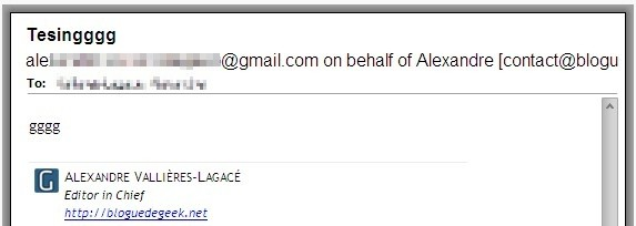 "Gmail avec le ""On Behalf Of"""