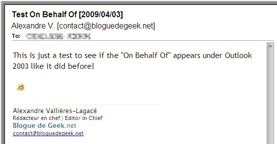 "Gmail sans le ""On Behalf Of"""