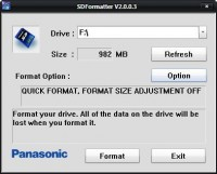 Panasonic Formatter