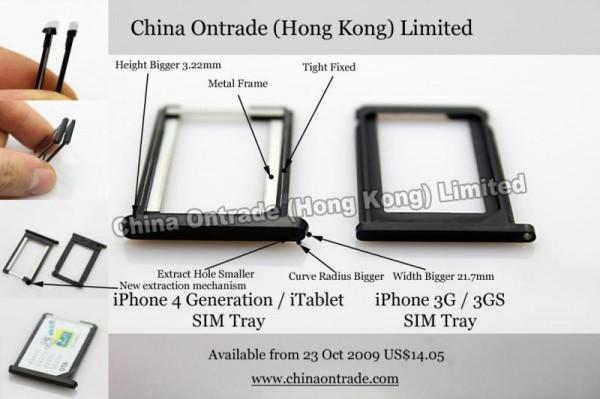 iphone 4g sim tray 800 600x399 - Support pour carte SIM du iPhone 4G et Apple Slate disponible