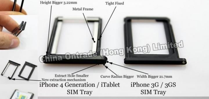 Support pour carte SIM du iPhone 4G et Apple Slate disponible