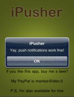 ipusher test 152x200 - Solution gratuite pour le push sur les iPhone unlockés [Tutorial]