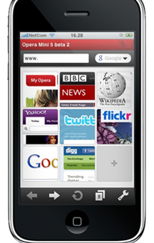 Opera Mini 5 pour iPhone, soumis au App Store