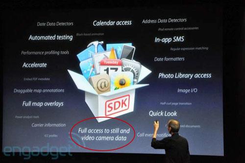 Capture de vidéo en HD (720p) sur l'iPhone HD