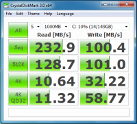 Intel X 25 M 160Go CrystalDiskmark 200x181 - Disque SSD Intel X-25 M 160Go [Test]
