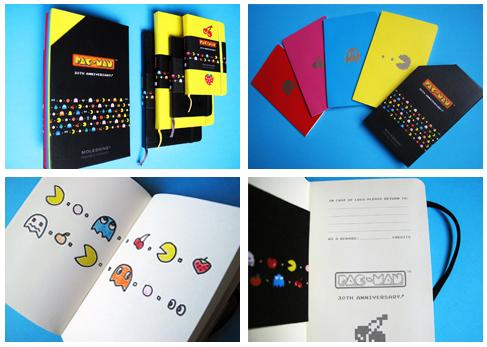 pac man moleskin - Moleskin fête les 30 ans de Pac-Man!