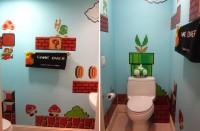 mario bathroom top 200x131 - Une salle de bain sur le thème de Super Mario Bros.!