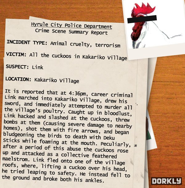 hyrule police report 3 - Les rapports de police sur les méfaits de Link!