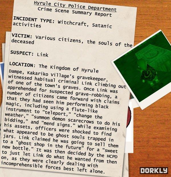 hyrule police report 4 - Les rapports de police sur les méfaits de Link!