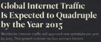 quadruple internet traffic 200x83 - Le traffic Internet global devrait quadrupler d'ici 2015! [Infographique]