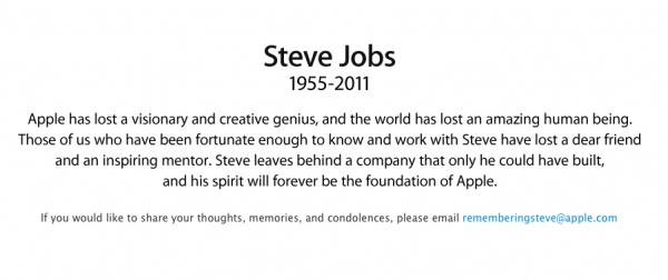 rememberingsteve 600x252 - Au revoir, Steve