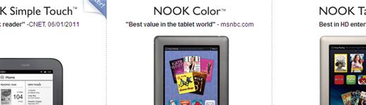 nook entete 520x150 - Nook, Nook Color et Nook Tablet [Présentation]