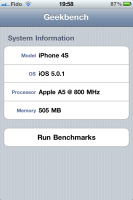 GeekBench iOS 1 133x200 - iPhone 4S [Test]