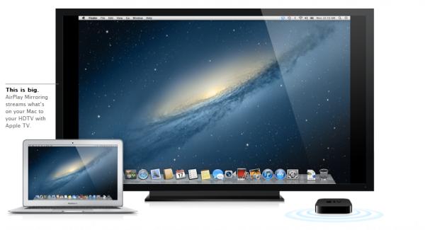 airplay 600x325 - Mac OS Mountain Lion, quoi de neuf?