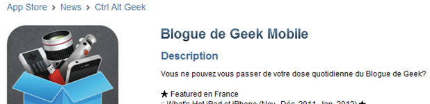 Blogue de Geek Mobile mis à jour en version 1.4