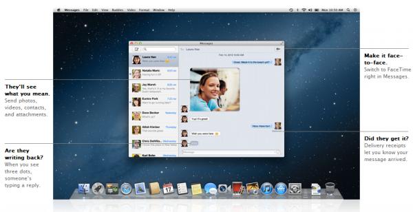 imessage 600x308 - Mac OS Mountain Lion, quoi de neuf?