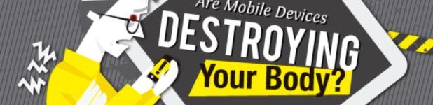 mobiles telephones impact sante gnd geek enete - Est-ce que vos gadgets détruisent votre santé? [Infographique]