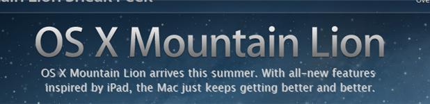 osx - Mac OS Mountain Lion, quoi de neuf?