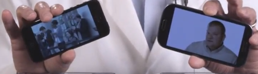 iphone5 vs galaxy s3 520x150 - Un iPhone 5 contre un Samsung Galaxy S3 dans un mélangeur!