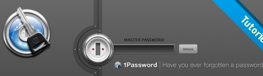 1password 520x150 - Comment n'utiliser qu'un seul mot de passe et être sécuritaire? [Tutoriel]