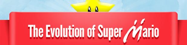 evolution of super mario th - L'évolution de Mario [Infographique]