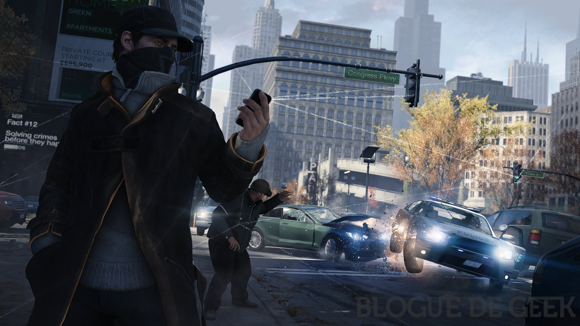 WatchDogs Police Block TrafficLight imp - Nouvelles images pour Watch_Dogs!
