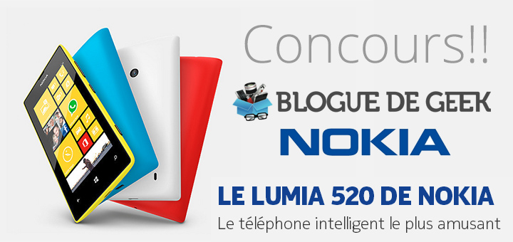 concours nokia lumia 520 - Gagnez un Nokia Lumia 520! [Concours]
