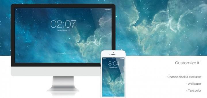 Un économiseur d'écran à la sauce iOS 7 pour votre Mac!