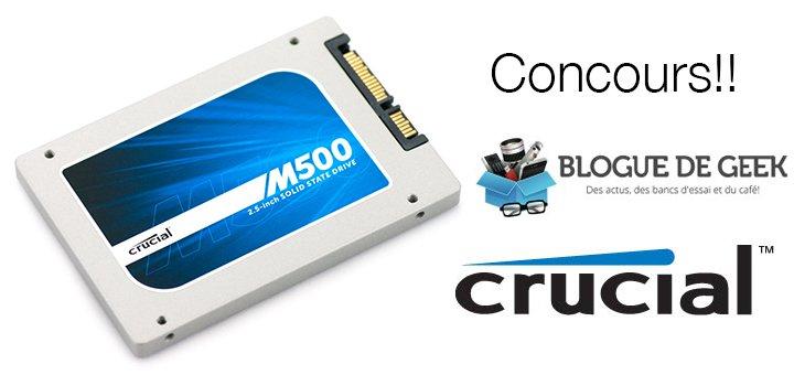 Gagnez un disque SSD m500 de Crucial! [Concours]