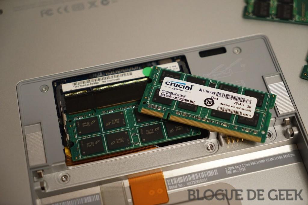 """macbook pro crucial mise a jour 02388 imp 1024x683 - Comment booster son MacBook Pro 15"""" (2007) ? [Tutoriel]"""