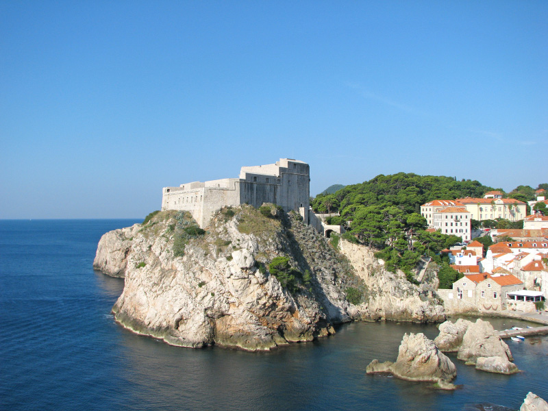 Croatie Dubrovnik Fort Lovrijenac