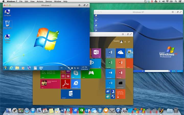 parallels desktop 10 XP Win7 Win8 on Mavericks - Test de Parallels Desktop 10