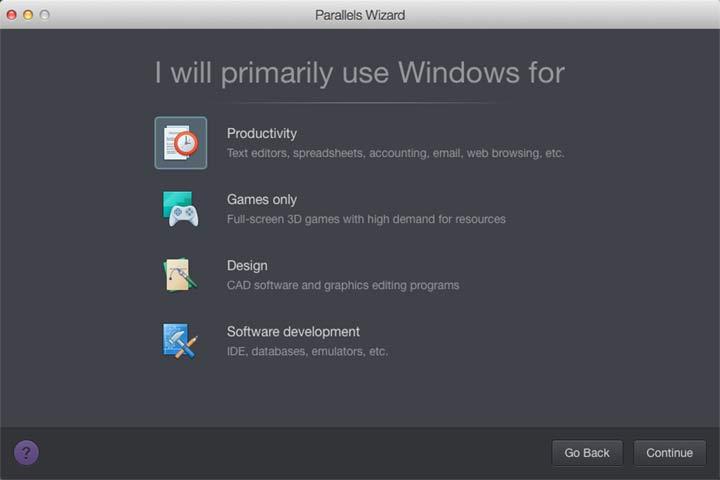 parallels desktop 10 VM Configuration Presets - Test de Parallels Desktop 10